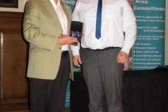 Rory receiving his award