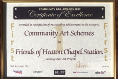 Cert of Community Art scheme 1st