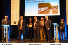 FofHCS accepting first prize for Community Art Scheme iii