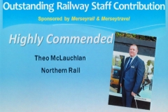 Rail staff contribution Theo Commended i