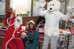 Elf and Polar Bear and Santa ii