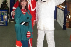 Elf and Polar Bear and Santa iii