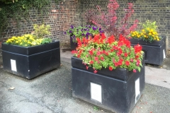 Platform 2 flower containers