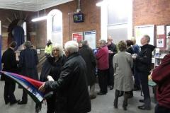 Heaton Chapel station clock unveiling i