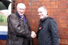Heaton Chapel station plaque unveiling i