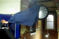 Station clock unveiling by Alex Hynes