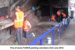 Ramp black wall volunteers