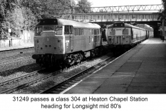 Class 304 and 31249